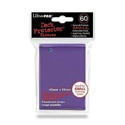 60 Ultra Pro DECK PROTECTOR Card Sleeves PURPLE YuGiOh Small Size 82687 1 pack