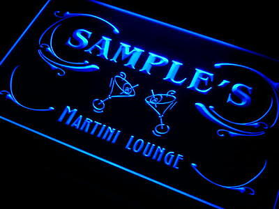 ti-tm Name Personalized Custom Martini Lounge Cocktails Bar Wine Neon Light Sign