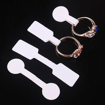 100pcs/set Blank Jewelry Price Label Stick-on Hang Display Sticker Tags