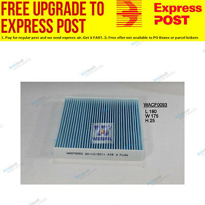 Wesfil Cabin Air Pollen Filter WACF0093 fits Honda Jazz 1.4 (GD)