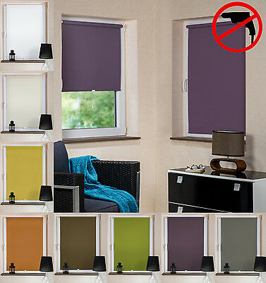liedeco springrollo mittelzugrollo schnapprollo fenster t r rollo dunkelgrau eur 19 99. Black Bedroom Furniture Sets. Home Design Ideas