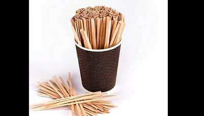 "2 X 1000 Wood Coffee Stirrers 5.5"" Stir Wooden Craft Popsicle Cupcake Sticks"