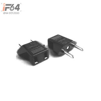 US USA to EU Euro Europe AC Power Plug Converter Travel Adapter Charger Adapters