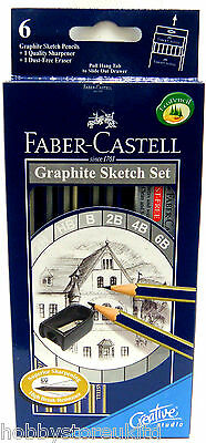 Faber Castell Graphite Sketching Pencils Graded Pencils Drawing Pencils Set New