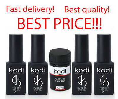 Kodi Professional Rubber Base Rubber Top 7 12 14 30 ml Gel SALE! No Sticky Top!
