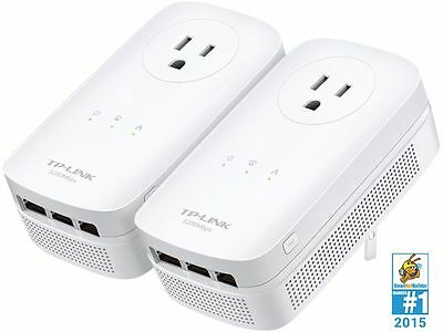 TP-Link TL-PA8030P KIT AV1200 3-Port Gigabit Passthrough Powerline Starter Kit U