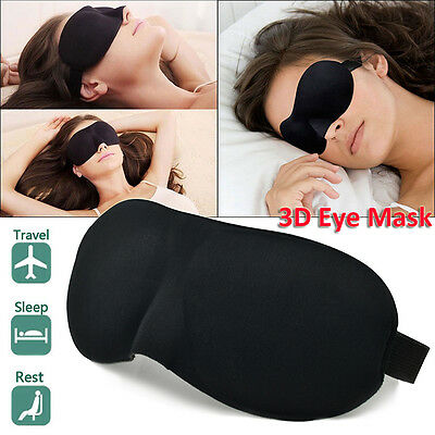 3D Soft Padded Blindfold Eye Mask Travel Rest Sleep Aid Shade Cover Unisex New