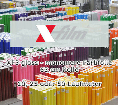 xf3 Gloss Shiny monomere Color Slide X-FILM 63cm Rolls x 10 25 50 M Film