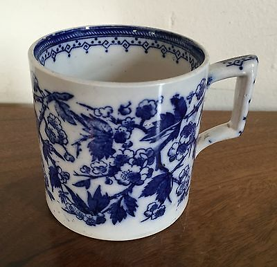 Antique 19th c. Staffordshire Blue & White Tankard Mug in the Chinese Taste