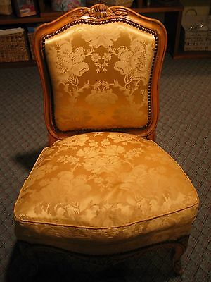 Small Slipper Chair: 80 Year Old Handmade Copy of Louis XV French Regency Design