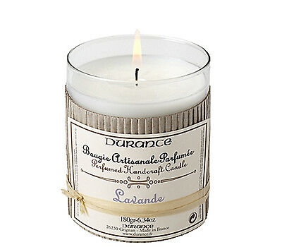 Durance Perfumed Handcrafted Candle - Lavender Scented 180g