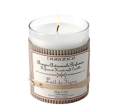 Durance Perfumed Handcrafted Candle - Fig Milk Scented 180g