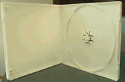 100 New White Single Poly Cd/dvd Cases W/sleeve Psc13