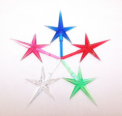 Ceramic Christmas Tree Lights Ornaments  Medium Modern Star Topper  Lot/5  Mix B