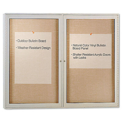 Ghent Enclosed Outdoor Bulletin Board 48 x 36 Satin Finish PA23648VX181