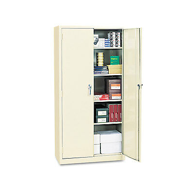 "Alera Assembled 72"" High Storage Cabinet w/Adjustable Shelves 36w x 18d Putty"