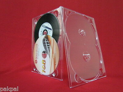 200 New Double (2) DVD Digitray, Digi Tray Clear 1/8 Inch Thick SF20S