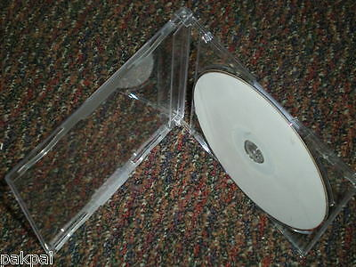 100 New High Quality 7MM Single MAXI Slim CD Case, J Card, Music CD Rare PSC17