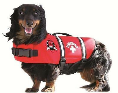 Paws Aboard Red or Blue/Yellow Neoprene Pet Dog Life Jacket Vest in 6 sizes