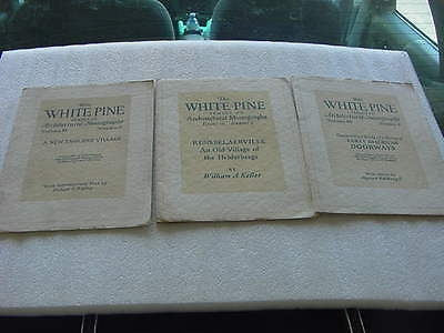 lot of 3 booklets the white pine series of architectural monographs1920s