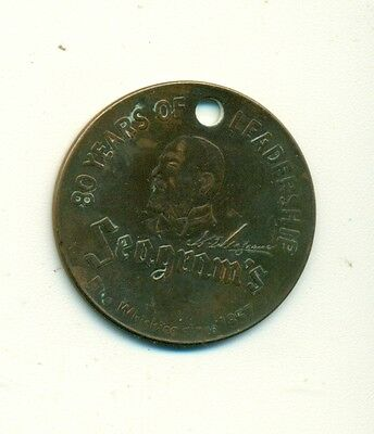 Vintage Seagram's 80 Years of Leadership Medallion/Token