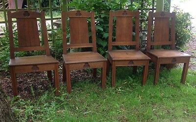 Ecclesiastical Chairs , Chapel, Dining, Solid Oak  X 4 Edwardian • £225.00
