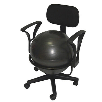 "CanDo Ball Chair Metal Mobile with Back with Arms 18"" Ball  1 EA"