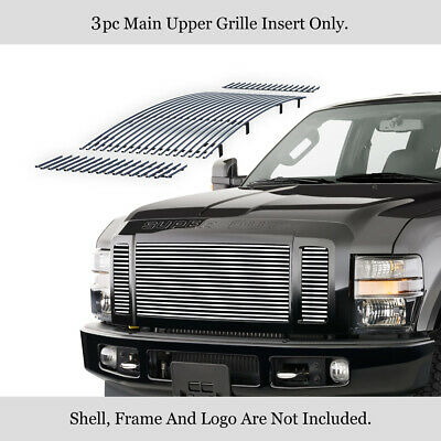Fits 2008-2010 Ford F250/F350/F450/ F550 Stainless Steel Billet Grille Insert