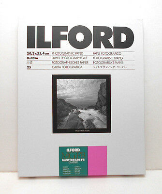 Ilford Multigrade FB 8x10 Photographic Paper 25 Sheet (Glossy Finish)