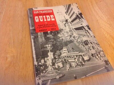 1953 San Francisco California Hotel Greeters Guide August