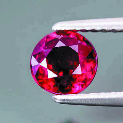 Very-Very Nice- 1.64 cts Round Natural Top Red Ruby, Mozambique(392)