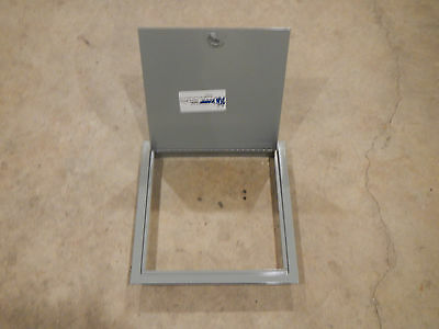 "NEW Karp 12"" x 12"" Gray Metal Steel Access Door w/ Flange Flush Mount Stud Lock"