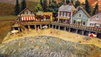 Z Scale Train Layout  24 X 48 Inches Beach Front  Buildings Included