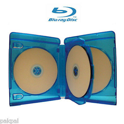 20 New High Quality 22mm Quad 4 Blu Ray DVD Cases Licensed Logo LDB-BD4BLU-22MM