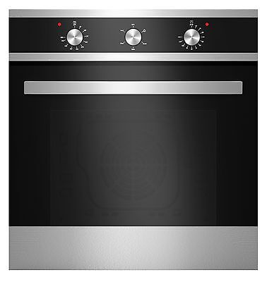 "Empava 24"" Tempered Glass Electric Built-in Single Wall Oven Black and Silver"