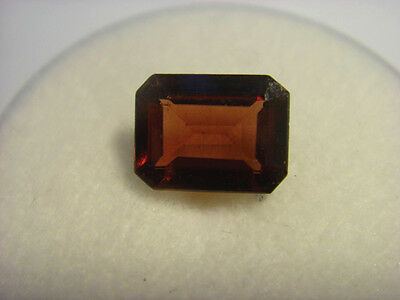 Garnet Gemstone Rectangular Cut 7mm x  5mm 1.35 carat faceted natural Gem