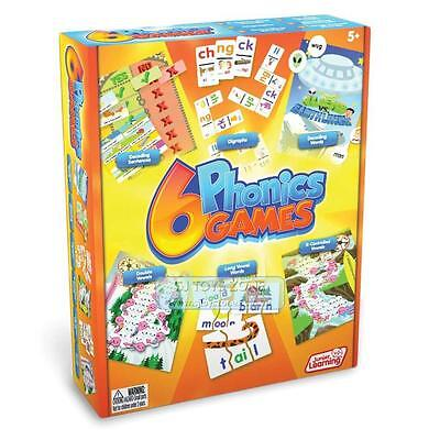 Junior Learning 6 Phonics Games Educational Toy