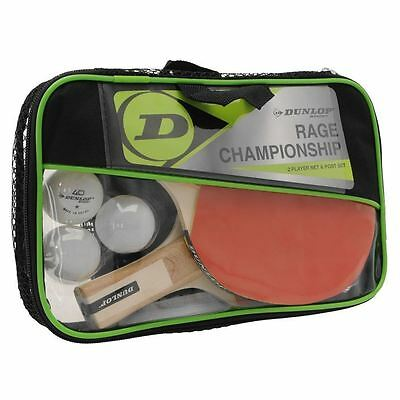 Dunlop Unisex Championship 2 Player Table Tennis Set Bat Ball 2 Player Post Net
