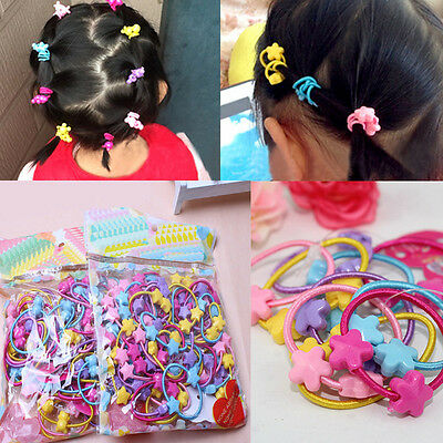 50pcs Rubber Band Elastic Hair Bands Kids Baby Girls Hair Accessories