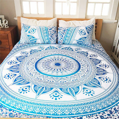 Indian Decor Mandala Tapestry Wall Hanging Hippie Throw Bohemian Queen Bedspread