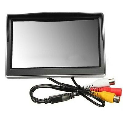 "New 5"" 800*480 TFT LCD HD Screen Monitor for Car Rear Rearview Backup Camera WD"