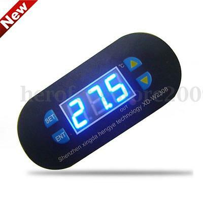DC12V Digital Thermostat Temperature Alarm Controller Sensor Meter Blue LED NEW
