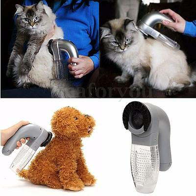 Pet Cat Dog Hair Fur Shedding Remover Vacuum Trimmer Grooming Comb Brush Cleaner