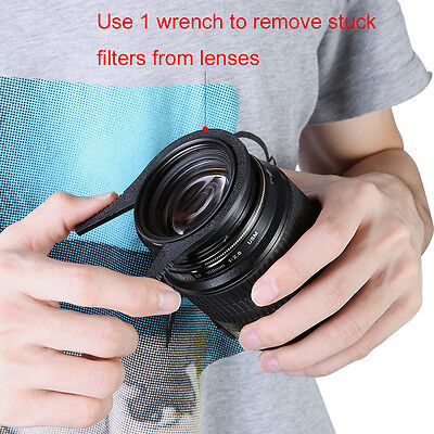 Neewer Ridged Interior Camera Lens Filter Wrench Kit 62-77mm for Canon,Nikon