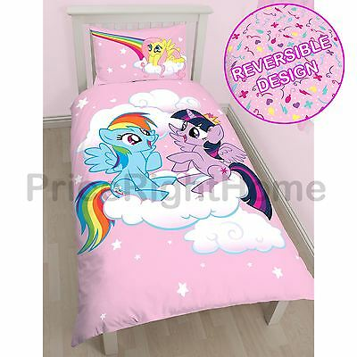 My Little Pony Equestria Single Duvet Cover Set Panel Official New Free P+P