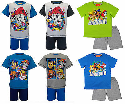Paw Patrol Short Pyjamas Pjs Pyjama Set Boys Girls Childs Kids Cotton