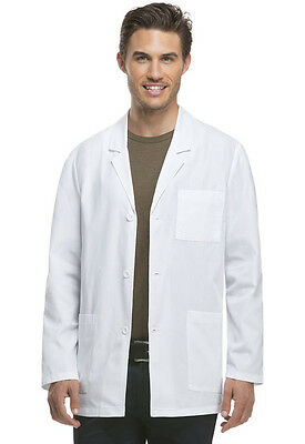 Scrubs Dickies Men's Consultation Lab Coat White 81404      FREE SHIPPING