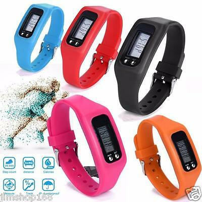 Digital LCD Pedometer Run Step Walking Distance Calorie Counter Wrist Watch Hot