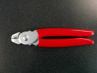Hog Ring Pliers Red Handle Seat Covers Upholstery Doll Repair Fence Traps