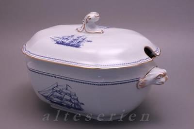 Suppenterrine groß 4 L Spode Copeland Trade Winds Blue - W 146